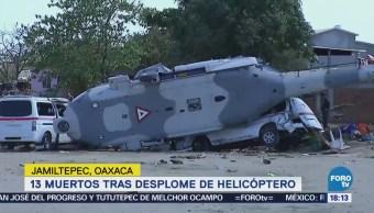 Desplome de helicóptero en Oaxaca deja 13 muertos
