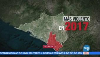El municipio más violento de México es Tecomán Colima