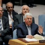 El presidente palestino, Mahmud Abbas, habla ante el Consejo de Seguridad de la ONU