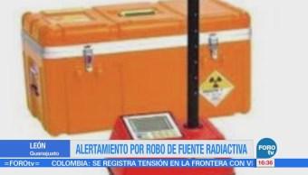 Emiten alerta por robo de una fuente radiactiva en León