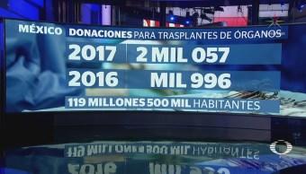 En 2017 México superó cifra de donaciones de órganos