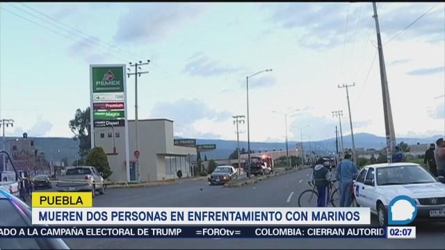 Enfrentamiento en Puebla dejados muertos