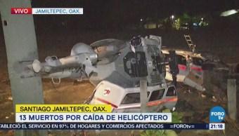 Entierran a 9 de 13 víctimas por caída de helicóptero en Oaxaca