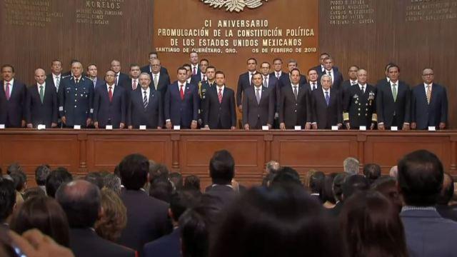EPN conmemora el 101 Aniversario de la Promulgación de la Constitución