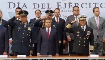 EPN conmemora El Día del Ejército en la CDMX