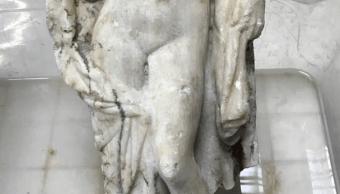 Desentierran impresionante estatua de Afrodita en trabajos del metro en Salónica