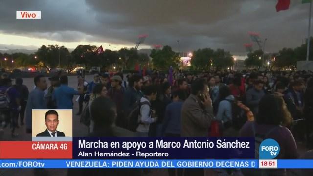 Estudiantes marchan en la CDMX en apoyo a Marco Antonio Sánchez