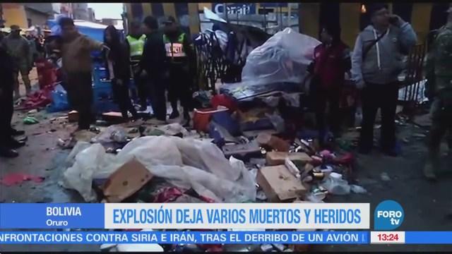 Explosión deja varios muertos y heridos en Bolivia