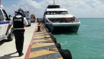 suman 25 heridos explosion ferry playa carmen quintana roo