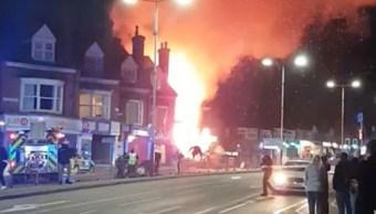 Reportan una fuerte explosión en la ciudad de Leicester, Inglaterra