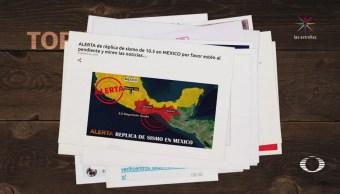 Fake news: Sismo de 8.7 grados en México