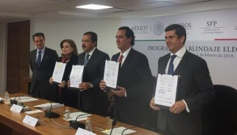 Firman convenio para blindar el proceso electoral 2018