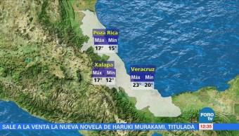 Frente frío 27 provoca viento y lluvia en Veracruz