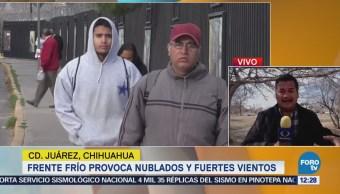 Frente frío provoca nublados y fuertes vientos en Chihuahua