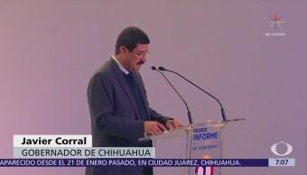 Gobernador de Chihuahua rinde su primer informe