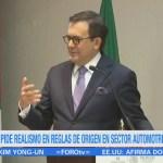 Guajardo pide realismo en la renegociación del TLCAN