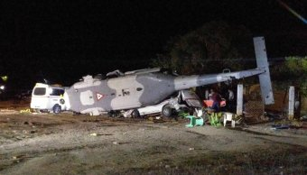 desploma helicoptero militar oaxaca hay persona muerta