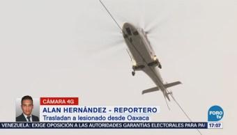 Helicóptero Relámpago traslada a sobreviviente de accidente aéreo en Oaxaca