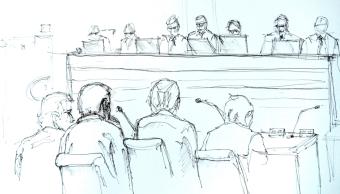 Imagen representativa del juicio en Estocolmo contra Rakhmat Akilov