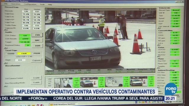 Implementan operativo contra vehículos contaminantes