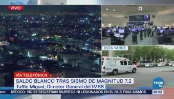 IMSS opera con normalidad tras sismoIMSS opera con normalidad tras sismo