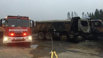 Incendian al menos 15 camiones en el sur de Chile