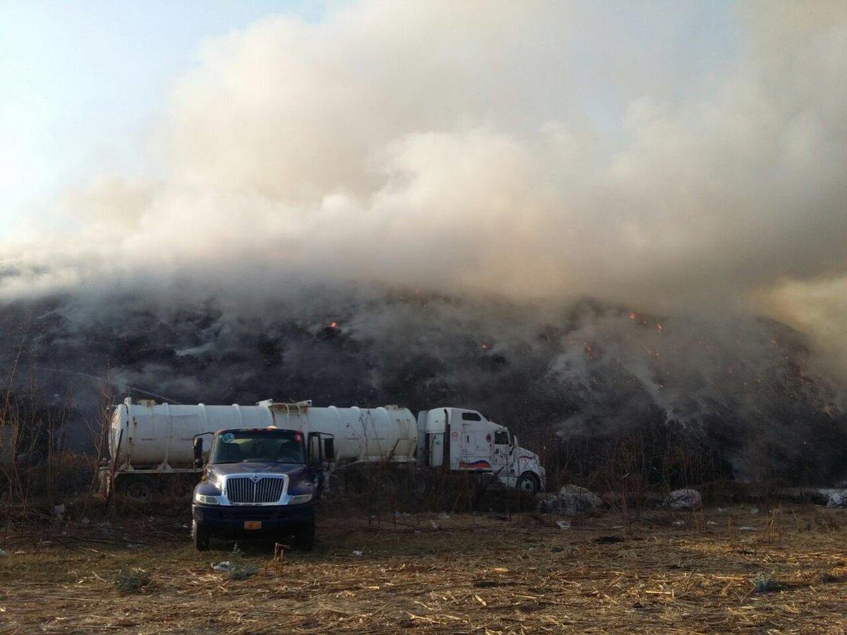 Incendio en basurero de Yautepec, apagado en 60%