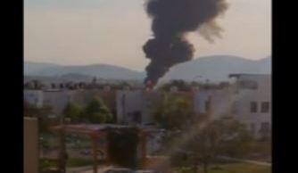 Explota camión con contenedor de hidrocarburo y provoca incendio en Jalisco