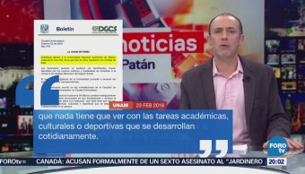 Individuos ajenos a la universidad sostuvieron una riña: UNAM