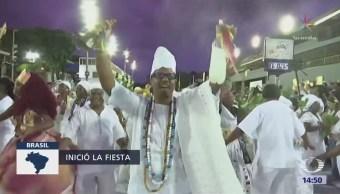 Inicia el carnaval de Río de Janeiro, en Brasil