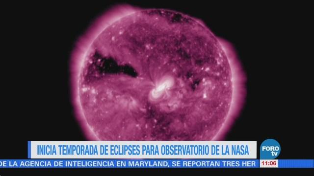 Inicia la temporada de eclipses para misión de la NASA