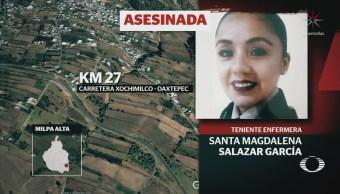 Investigan asesinato de enfermera en Milpa Alta