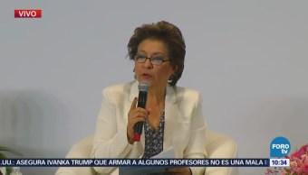 Isabel Miranda de Wallace participa en foro sobre seguridad