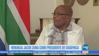 Jacob Zuma renuncia como presidente de Sudáfrica