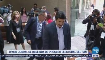 Javier Corral se deslinda de proceso electoral del PAN