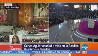 Jerarquía religiosa se reúne en Basílica de Guadalupe para misa de Aguiar