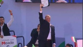José Antonio Meade toma protesta como candidato del PRI