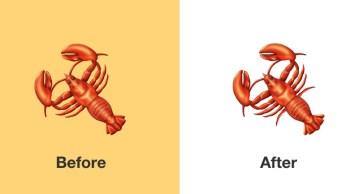 Emoji de langosta cambia tras críticas al diseño; añaden dos patas