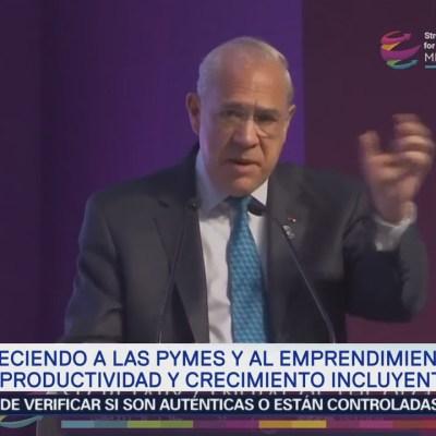 Las empresas más productivas son PyMEs, dice José Ángel Gurría
