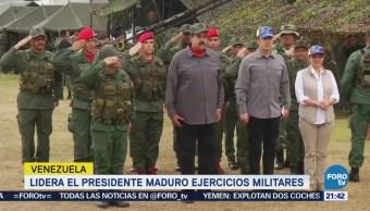 Lidera el presidente Maduro ejercicios militares