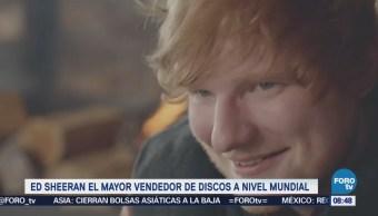 #LoEspectaculardeME: Ed Sheeran, el mayor vendedor de discos a nivel mundial