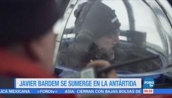 #LoEspectaculardeME: Javier Bardem desciende en aguas del océano Antártico