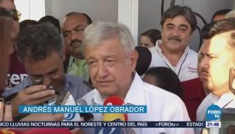 López Obrador se reúne con integrantes de Morena en Nuevo Laredo Tamaulipas