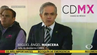 Mancera habla sobre renuncia de comisionado para la reconstrucción de CDMX