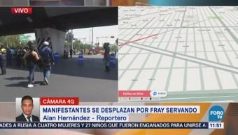 Manifestantes Avanzan Fray Servando Cdmx Reportan Afectación Vial