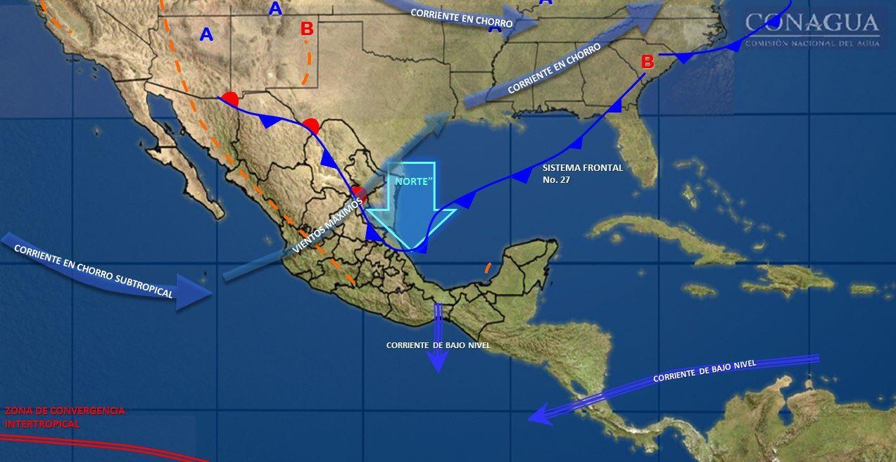 Se prevén lluvias en el Valle de México; abrígate