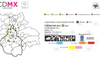 Se registra mala calidad del aire en Ecatepec y Chalco