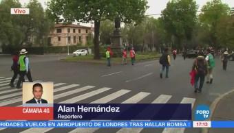 Marcha Manifestantes San Jerónimo Acazulco Avanza Hacia Los Pinos