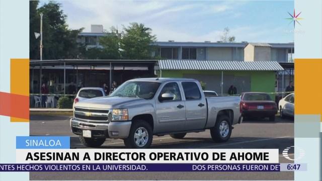 Matan al director operativo de la Policía Municipal de Ahome, Sinaloa