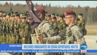 Mattis anuncia que 'dreamers' del Ejército de Estados Unidos no serán deportados
